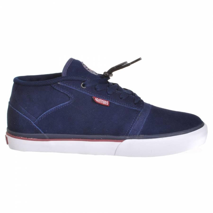 etnies etnies bledsoe mid navy white skate shoes etnies