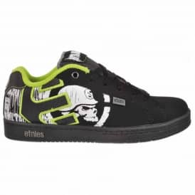 Etnies Kids Metal Mulisha Fader Skate Shoes Black/Lime