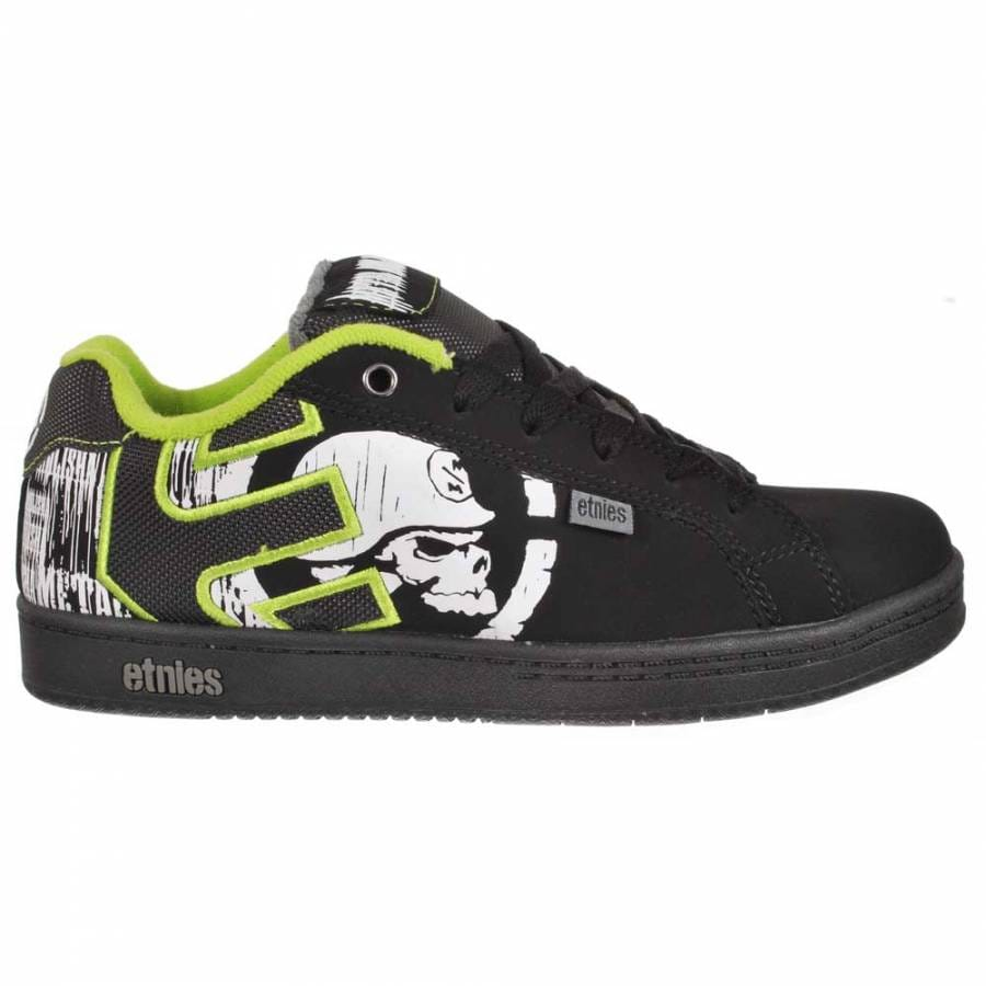 Etnies Etnies Kids Metal Mulisha Fader Skate Shoes Black/Lime - Etnies