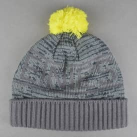 Liniar Pom Pom Beanie - Grey Heather