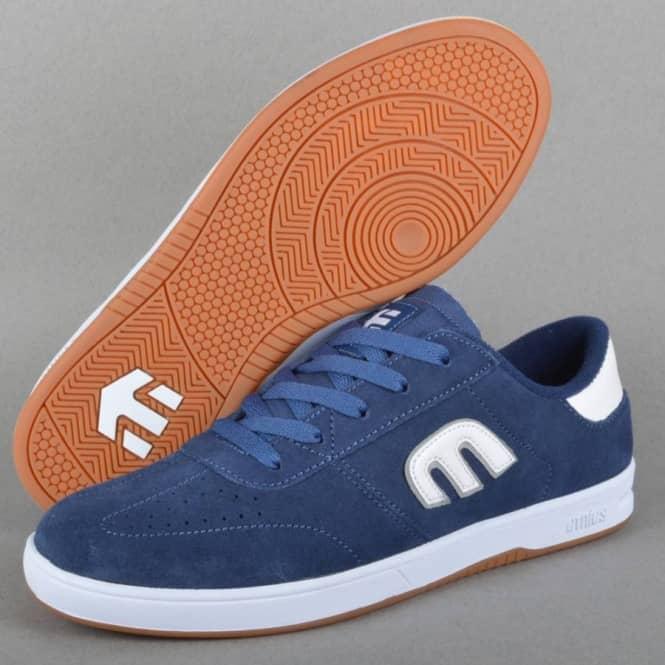 Lo-Cut Skate Shoes - Blue/White/Gum