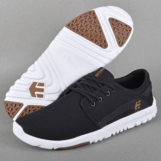 Etnies Scout Skate Shoes - Black/White