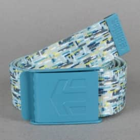 Etnies Staplez Graphic Belt - White/Light Grey