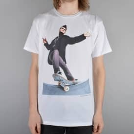 Everybody Skates Frontside Smith Skate T-Shirt - White