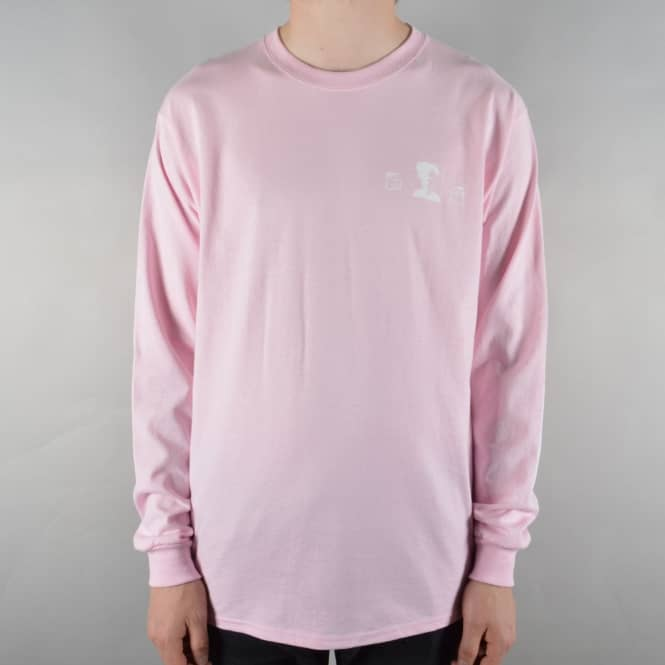 The National Skateboard Co. Exposure Longsleeve Skate T-Shirt - Pink