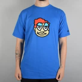 Krooked Skateboards Eyes On The Guy Skate T-Shirt - Royal Blue