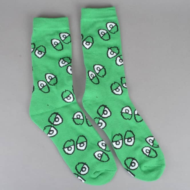 Krooked Skateboards Eyes Socks - Kelly Green