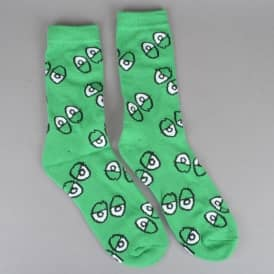 Eyes Socks - Kelly Green