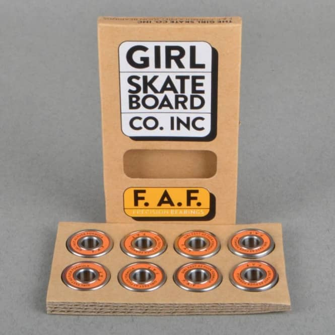 Girl Skateboards F.A.F. Precision Skateboard Bearings