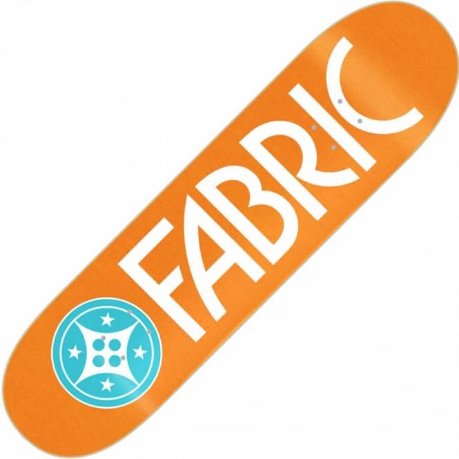 Fabric Skateboards Fabric Canvas Orange Skateboard Deck 8.0