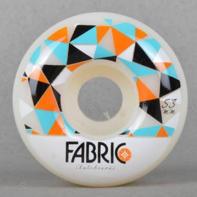 Fabric Skateboards Fabric Lewisville Pattern Blue Skateboard Wheel 53mm