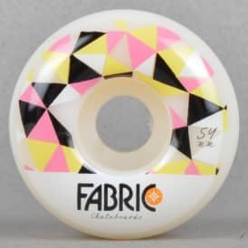 Fabric Lewisville Pattern Pink Skateboard Wheel 54mm