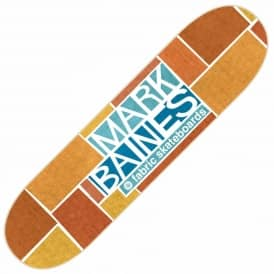 Baines Golden Orange Skateboard Deck 8.25