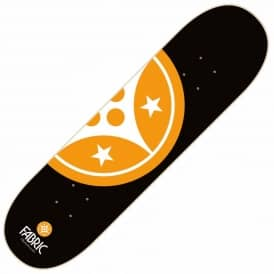 Device Half Black/Orange Skateboard Deck 8.5