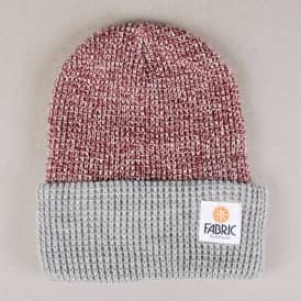 Fabric Marcus Two Tone Beanie - Burgundy Marl/Light Grey