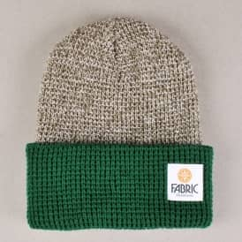 Fabric Marcus Two Tone Beanie - Olive Marl/Forest Green
