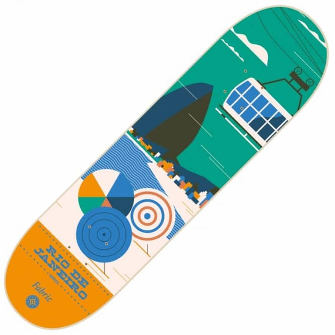 Fabric Skateboards Travel Series Rio Skateboard Deck 8.5