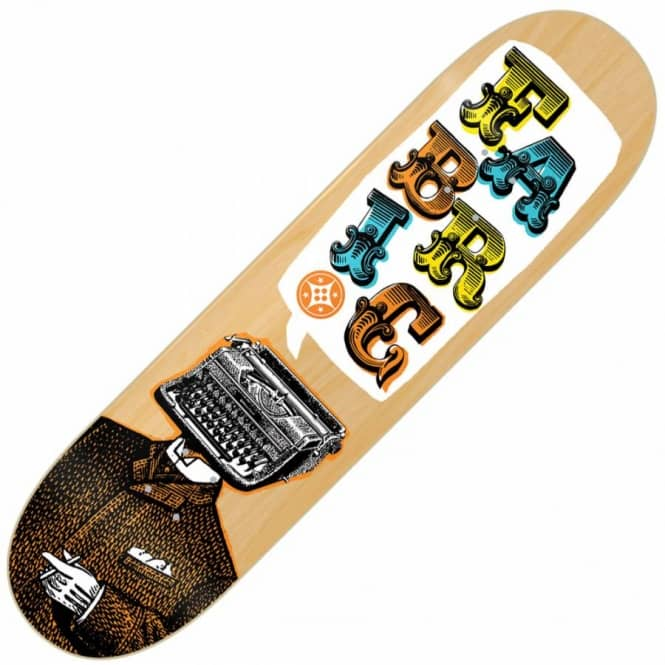 Fabric Skateboards Fabric Typewriter Wood Skateboard Deck 7.9