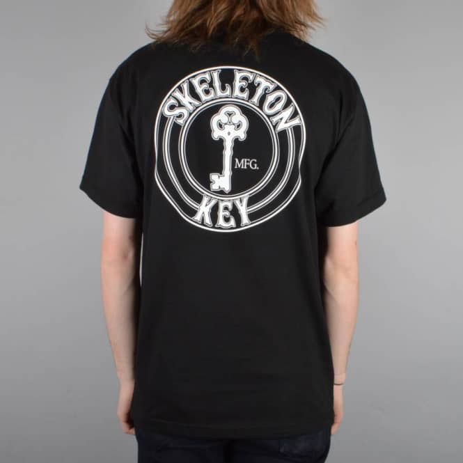 Skeleton Key MFG Factory Dot Skate T-Shirt - Black