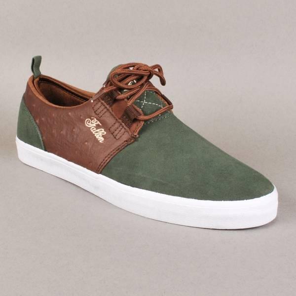 4501b19ffe562 Fallen Fallen Capitol Skate Shoes - Surplus Green/Saddle Brown
