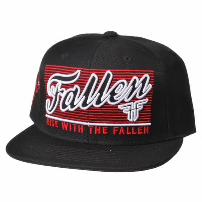 85fe5899f3e0b Fallen Lockout Snapback Cap - Black Blood Red - SKATE CLOTHING from ...