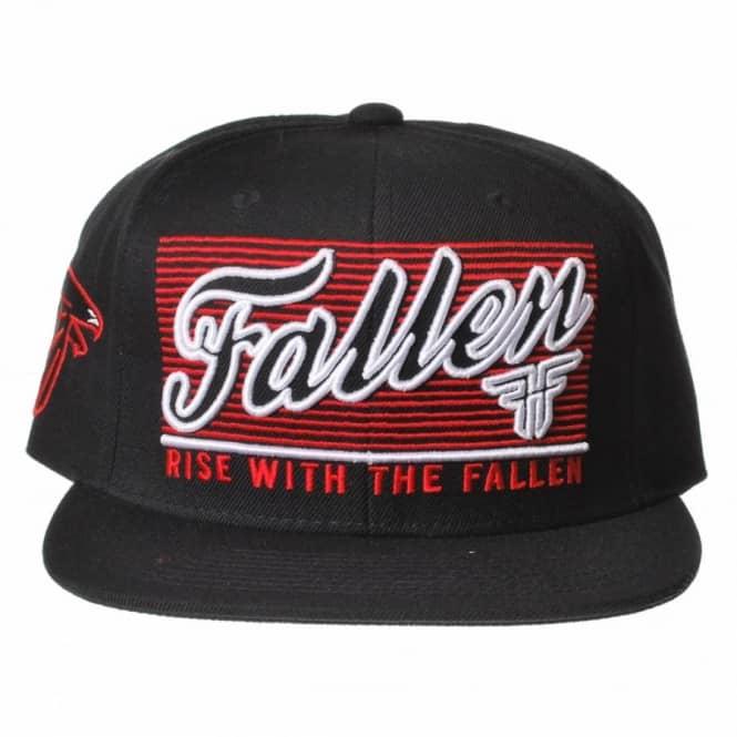 2e2ec39e63c Fallen Lockout Snapback Cap - Black Blood Red - SKATE CLOTHING from ...