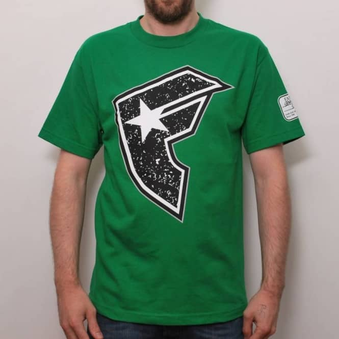 Famous Famous Composition T-Shirt Kelly Green