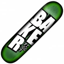 Figgy Stacked Name (Green Veneer) Skateboard Deck 8.125