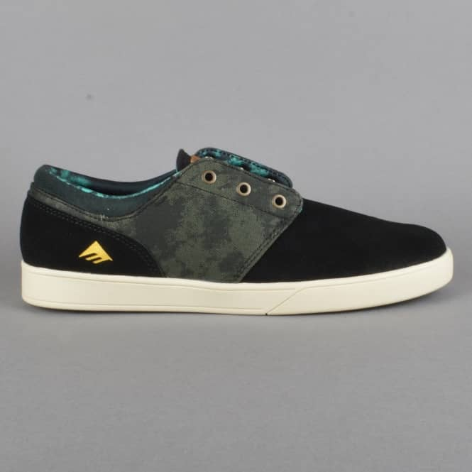 Emerica Figueroa X Harsh Toke Skate Shoes - Black/Green
