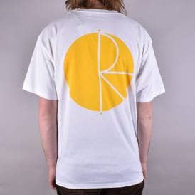 Fill Logo Skate T-Shirt - White/Yellow