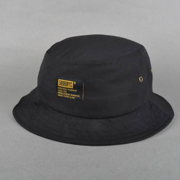 Fiveboro Skateboards Tactical Bucket Hat - Black - SKATE CLOTHING ... 42739c132b3