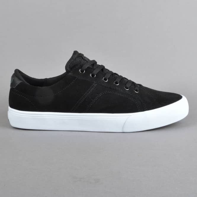 Lakai Flaco Skate Shoes - Black/Charcoal Suede