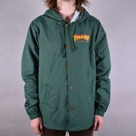 Flame Logo Coach Jacket - Forest Green 057a629f9c8f