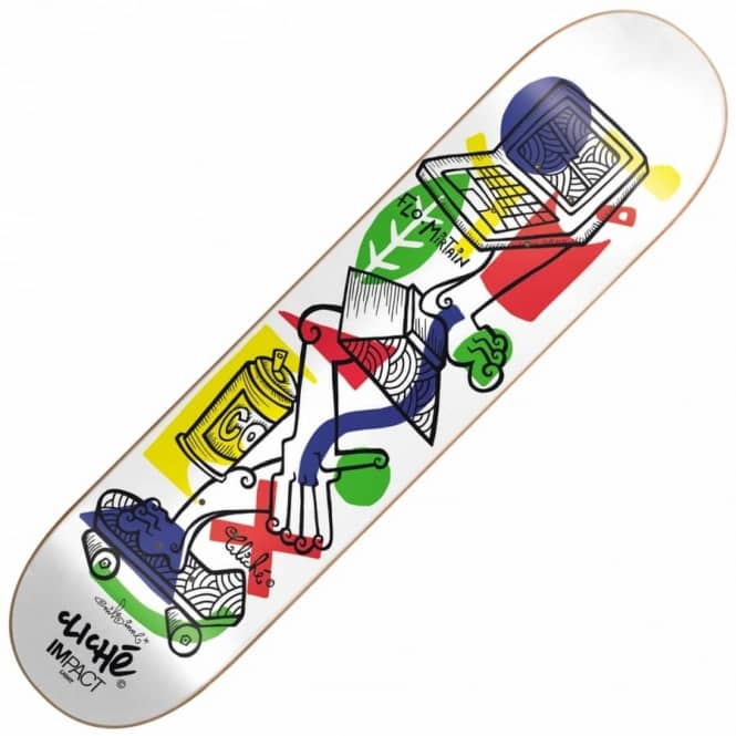 Cliche Skateboards Flo Mirtain Nils Impact Light Skateboard Deck 8.25