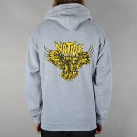 Flying Eagle Pullover Hoodie - Heather Grey