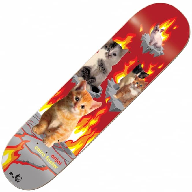 Enjoi Skateboards Foster Kitten Nightmares Skateboard Deck 8.0''