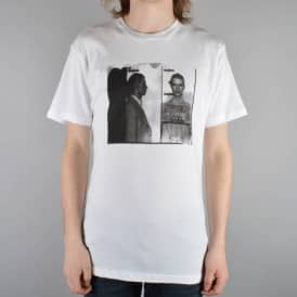 Fourstar Clothing Bowie Mugshot Skate T-Shirt - White