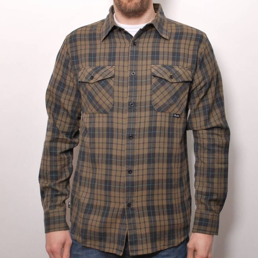 fourstar clothing fourstar brown plaid shirt fourstar