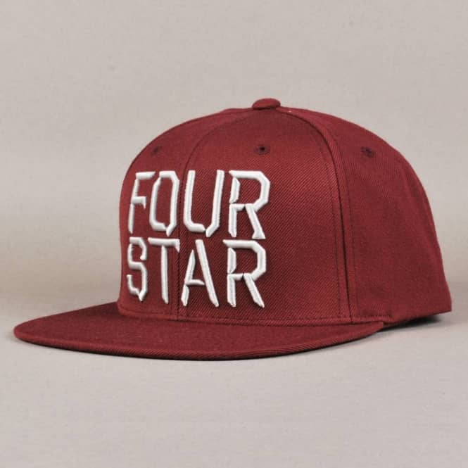Fourstar Clothing Fourstar Facet Snapback Cap - Merlot