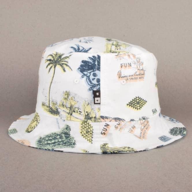 bd3c3072695 Fourstar Clothing Fourstar Koston Reversible Bucket Hat - White ...