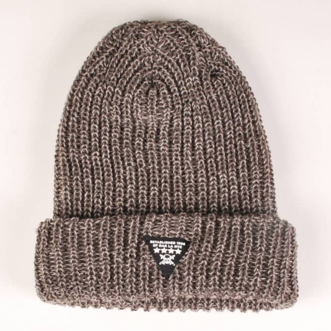 Fourstar Clothing Fourstar Triad Fold Beanie - Charcoal