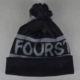 Fourstar Clothing Logo Pom Pom Beanie - Black
