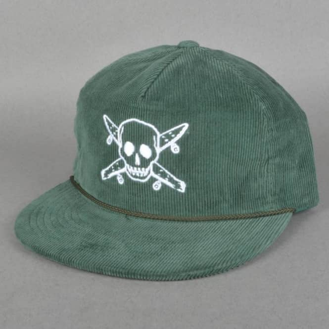 Fourstar Clothing Pirate Cord Trucker Cap - Dark Green - SKATE ... 7ee80171ab3f