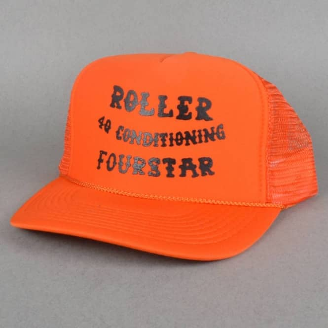 Fourstar Clothing x Roller 4Q Trucker Cap - Orange