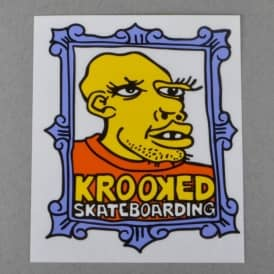 Framed Face Skateboard Sticker - Assorted Colours