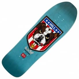 Frankie Hill Bulldog Blue Stain Reissue Skateboard Deck - 10.0