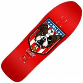 Frankie Hill Bulldog Red Reissue Skateboard Deck - 10.0