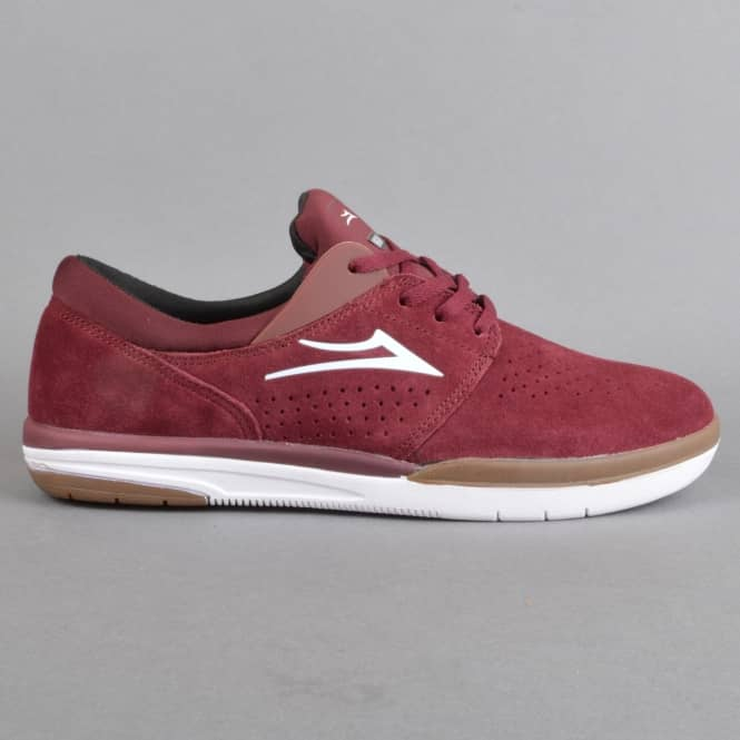 Lakai Fremont Skate Shoes - Burgundy Suede