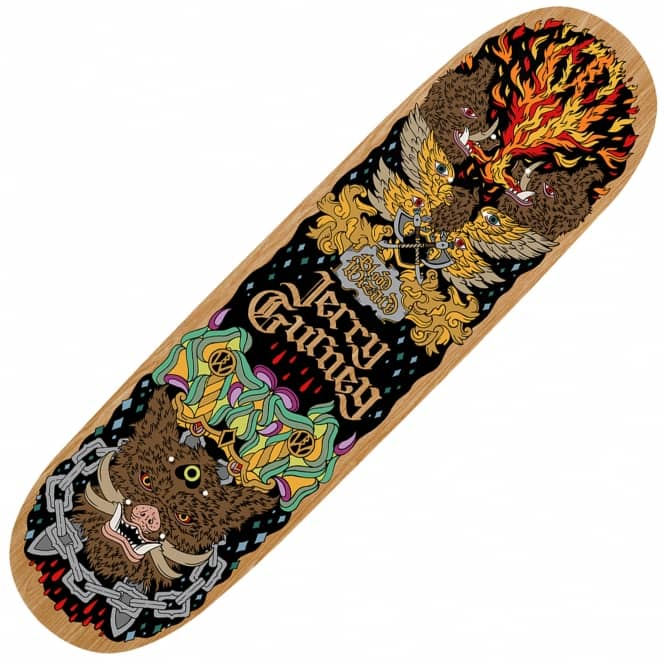 Blood Wizard Friends of the Forest Gurney Boar Skateboard Deck 8.75""