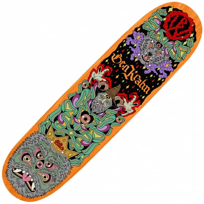 Blood Wizard Friends of the Forest Krahn Wolf Skateboard Deck 8.12""